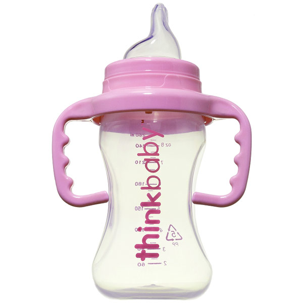 Thinkbaby Sippy Cup, No Spill Spout - Pink, 9 oz