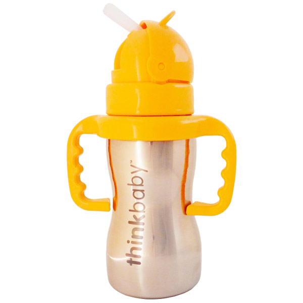 Image of Thinkbaby Thinkster of Steel, Stainless Steel Straw Bottle, 9 oz