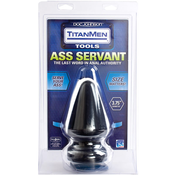 TitanMen 3.75 Inch Diameter Ass Servant, Butt Plug, Doc Johnson