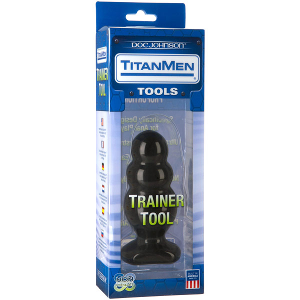 TitanMen Trainer Tool #4 - Black, Anal Toy, Doc Johnson