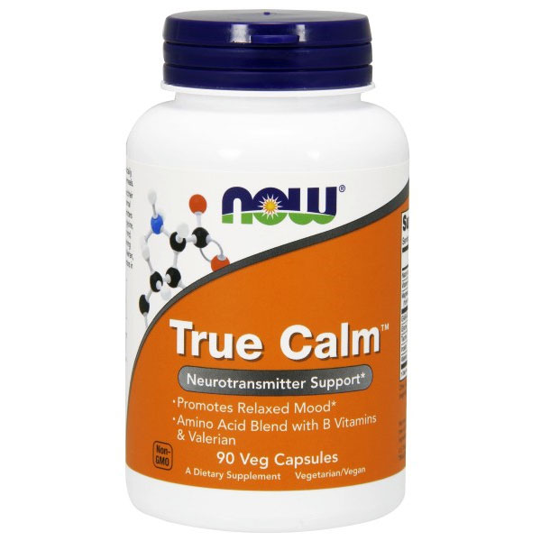 True Calm Amino Acid 90 Capsules, NOW Foods