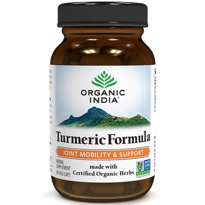 Turmeric Formula, With Organic Herbs, 90 Vegetarian Capsules, Organic India