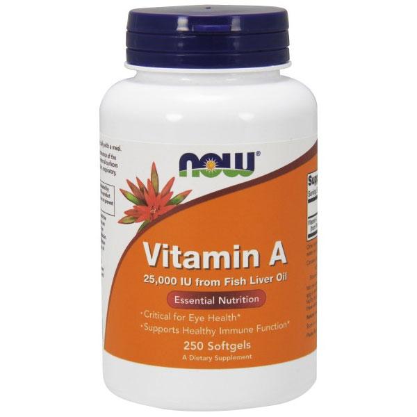 Vitamin a 25 000 iu fish liver oil 250 softgels now for Vitamin e and fish oil